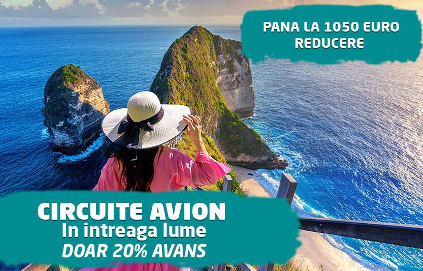 Circuite Avion - Pana la 1050 euro reducere